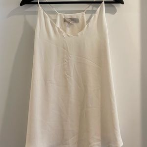 Off white loose cami tank top